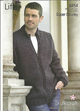 STYLECRAFT EASY KNIT SUPER CHUNKY MAN'S ZIP CARDIGAN KNITTING PATTERN