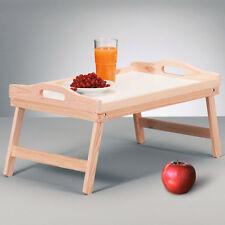 Holztablett Serviertablett Holz Kiefer Betttablett Tablett Betttisch Knietablett