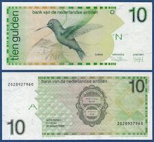 NETHERLANDS ANTILLES  10 Gulden 1986  UNC  P.23 a