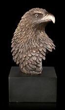 Adler Kopf auf schwarzen Monolith - Veronese Greifvogelbüste Vogel Skulptur