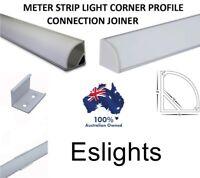 4X ALUMINIUM CORNER PROFILE CHANNEL STRAIGHT CONNECTOR JOINER LED STRIP LIGHT