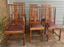 Fine Set Arts & Crafts Chairs c1910 by WOLFE & HOLLANDER of LONDON, LIGHT OAK