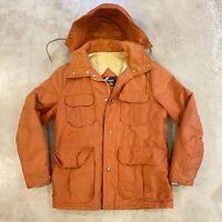 Awesome VTG 60s SEARS Brick Hooded Winter Parka Anorak Jacket Mens sz M/L USA