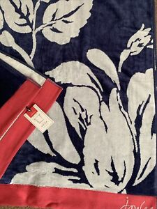 BNWT RRP £36 JOULES Dawn Shadow Floral Large Bath Sheet Towel - Ideal Gift