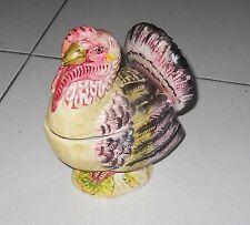 Ceramica BARETTONI NOVE VASO A FORMA DI TACCHINO statua Turkey ceramic Antonibon