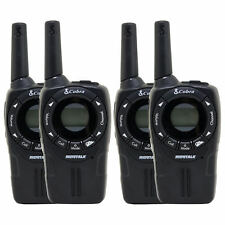 Cobra CXT235 MicroTalk 20 Mi FRS/GMRS 2 Way Walkie Talkie, Black (4 Radios)