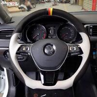 Steering Wheel Cover for Volkswagen VW  Passat B8 Golf 7 Mk7 New Polo Jetta