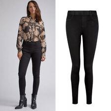 Dorothy Perkins Ladies Womens Mid Rise Black Cotton Skinny Jeggings Plus Size 20