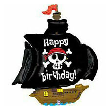 Party Supplies Decorations Boys Birthday Pirate Ship Shape Foil Balloon