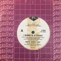 "Boys Don't Cry - I Wanna Be A Cowboy / Turn Over  7"" Vinyl 45rpm Single NM"