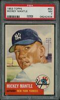 1953 Topps Baseball | HOF Mickey Mantle Card # 82 | PSA 7 ++ NM NEAR MINT