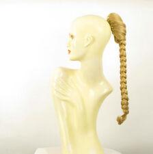 Postiche queue de cheval natte tresse 50 cm blond clair doré ref 4 en lg26