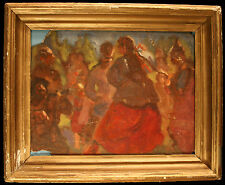 ANTIQUE AMERICAN IMPRESSIONIST PAINTING PILGRIMS STYLE COSTIGAN WPA ARTIST NY RI