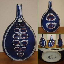 Blue Vase, Glazzed Pottery Ceramic Art Denmark Royal Copenhagen 41 148 / 4740