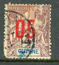 Guyane 1912 French Guiana 5¢/4¢ Scott #88 VFU H534