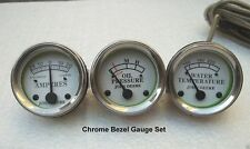 Tractor Oil Pressure, Ammeter, Temperature Gauge Set Replacement fits John Deere