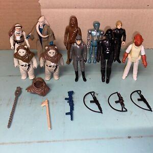 Vintage Star Wars figures and weapons bundle / job lot x 10