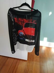 Desigual Red Beetle Top Size S