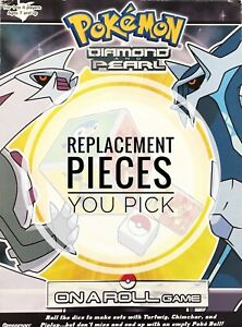 Pokémon On a Roll Diamond Pearl Dice Game Replacement Pieces Pokemon You Choose