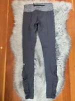 Lululemon Inspire Tight *Reflective Ruffles Heathered Slate Gray Luxtreme Sz 4