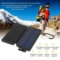 Portable Solar Power 10000mAh Power Bank External Battery Charger for Cellphone