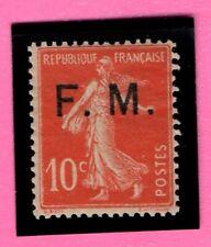 France TIMBRE de FRANCHISE  SEMEUSE - 1906/07 - N°5**MNH surcharge F.M - COTE 4€