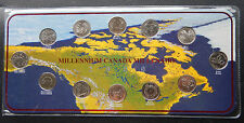 2000 Canada 25 Cents Millennium Collector Set of Coins  Rectangle  SBC2000SQ