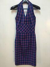 Women's Vivienne Westwood Cool Design Top Blouse Sexy Plaid Dress Size 1