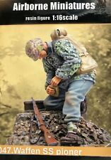 1/16 120MM RESIN FIGURE AIRBORNE MINIATURES, WAFFEN SS PIONEER. NEW.