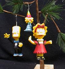 SIMPSONS Bart, Lisa, Maggie Christmas Tree Ornament Set, 3 piece Lot Simpson