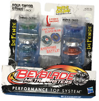Beyblade Metal Masters Aqua Sword Strike 2 Pack Grand Cetus v Hyper Orso Sealed