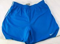 "Womens NIKE Running Track Shorts Athletic 5.5"" Blue Sz S 4-6 Drawstring Inside"