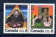CANADA - 1976 - Scrittori canadesi: G.G.(1893-1968)-Robert W.Service (1874-1958)