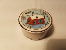 "Villeroy & Boch Design Naif Porcelaine Trinket Box 3"" x 2 3/4"""