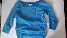 lacoste . fleece. wide neck.  sweatshirt.  turquoise.uk 8-10 /  EU 36