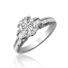 GIA Certified Diamond Engagement Ring 2.50 Carat Cushion Cut 18k Gold