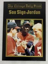 MICHAEL JORDAN 'Sox Sign Jordan Basketball Card  Rare 🔥