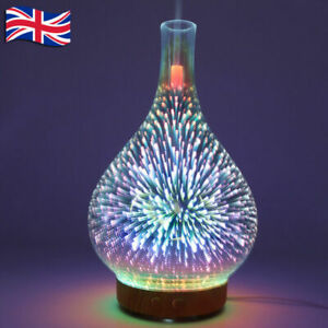 Electric Essential Oil Aroma Air Diffuser 3D Firework LED Ultrasonic Humidifiers