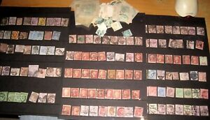 Collection GB STAMPS PENNY REDS BLACK VICTORIAN ED VII MIXED JOB LOT allsorts