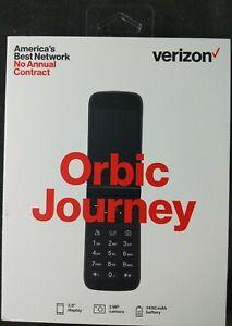 "Verizon Orbic Journey Flip Phone Prepaid 2.8"" Display 4G LTE Black 8 GB New"
