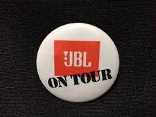 New JBL On Tour White Button Pin FS