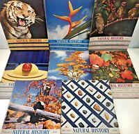 8 Vintage Natural History Magazines Lot Year 1941 Science History Ephemera 1940s