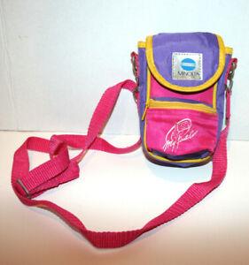 "VTG Kids Girls MInolta ""My First Camera Bag"" Pink Purple Adjustable Strap"