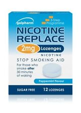 Galpharm Nicotine Replace Lozenges 4mg Peppermint Flavour Stop Smoking Aid 12x2