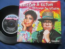 Aretha Franklin & Elton John  Through The Storm Arista 112-185  UK 7inch Single