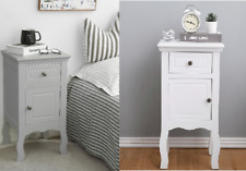 2 x Shabby Chic Bedside Table Nightstand Cabinet With 1 Drawer & 1 Door Colours