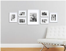 Picture Frame Set For Wall 7 Piece Wood Kit Hanging Photo Art Home Decor White