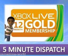 12 Mois Xbox Live Gold Membership pour Microsoft Xbox 360/XBOX ONE RAPIDE