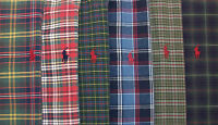 Polo Ralph Lauren LS Classic Fit Plaid Oxford Shirt Pony  $95 Blue Green Red NWT