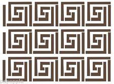 Stencil Aztec Tribal Southwestern Pattern Crafts Tiles Walls Borders Greek